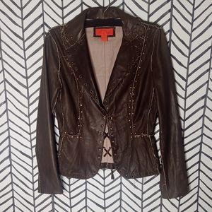 Elements by Vakka Jacket Distressed Leather